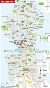 Map Of Spokane Seattle Map Seattle Washington Map