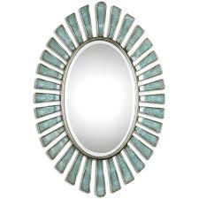 Uttermost Morvoren Blue Gray Oval Decorative Wall Mirror Free