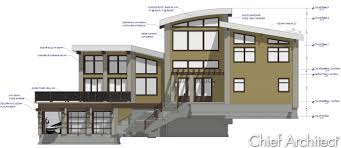 house plan elevation section home design chief architect software