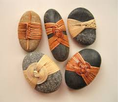 japanese wrapping cane wrapped rocks japanese basketry knots japanese rock and
