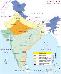 map of be physiographic map of india india physiographic map