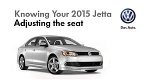 2015 volkswagen jetta adjusting the manual seat youtube