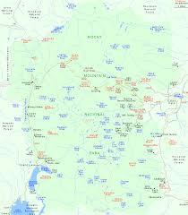 map of rocky mountain national park colorado