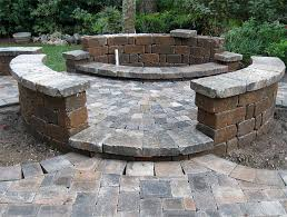 Retaining Wall Patio Hardscape Package 4 Brick Paver Patio Pergola Firepit