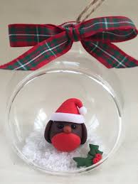 french bulldog christmas bauble glass ball with little xmas