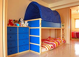 Bunk Bed Canopy Tent Kao Mart Bed Canopy Tent Blue Home Kitchen