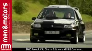 renault clio 2000 2000 renault clio dimma u0026 yamaha yzf r1 overview youtube