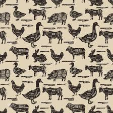 cow wrapping paper diagram guide for cutting meat seamless pattern pork cow goose