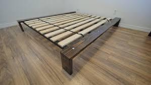 Platform Bed Frame King Wood Amazon Com Encore Modern Platform Bed U2013 Custom Wood Stain