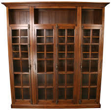 Metal Book Shelves by Furniture Brown Wooden Book Cabinet With Glass Door And Antique