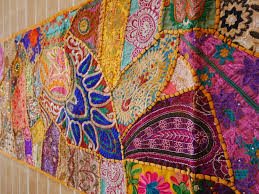 tapestry home decor table runner vintage saree tapestry masala table cover