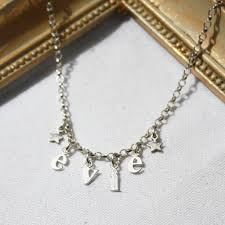 children s name necklace name necklace harry rocks