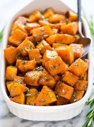cinnamon roasted butternut squash with maple and rosemary