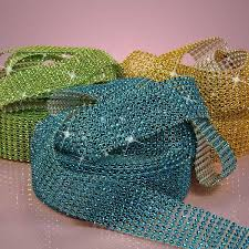 diamond mesh ribbon 60 best diamond ribbon wrap images on flowers