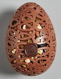 fruit and nut easter eggs fruit and nut milk chocolate lattice egg m s