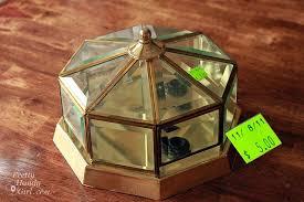 beveled glass ornaments from an brass light pretty handy