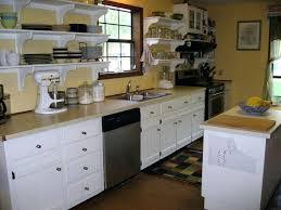 white laminate countertop yellow theme kitchen cabinet with light