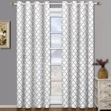 grommet thermal blackout quatrefoil window curtains panels pair