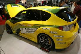 yellow subaru wrx jun auto works subaru wrx sti 4 madwhips