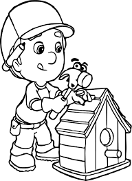 manny and pat fixing a bird house coloring page wecoloringpage
