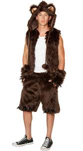 Halloween Costumes Lingerie Men U0027s Furry Brown Bear Costume Halloween Fancy Dress Costume
