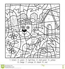 coloring page stunning dog color by number coloring page dog