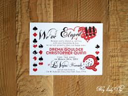 elopement invitations las vegas elopement announcement my dye