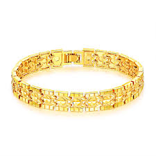size 7 13 2015 new 18k plated classic gold men rings black opk jewelry luxury gold plated men s bracelets chain