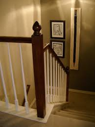 especial oak to wood stair railing with remodelaholic ten stair