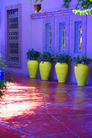 check out these lime green vases for the garden go one further