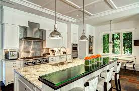 kitchen island with bar top traditional kitchen with kitchen island breakfast nook in miami