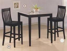 granite top round pub table black finish granite top counter height 3 piece bar table set with