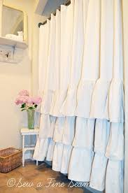 ruffle shower curtain most beautiful of them all home design