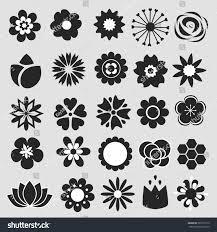wedding invitation symbols flower icons set decorative floral symbols stock vector 589131515