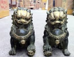 guard dog statue aliexpress buy free shipping a pair bronze handwork