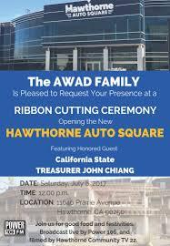 hawthorne auto square ribbon cutting u2014 hawthorne california
