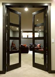 Modern Glass Interior Doors Modern Interior Doors Contemporary With Black Leather Couches