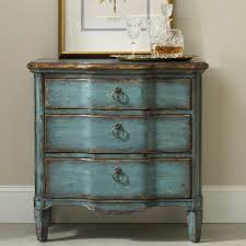 Slaters Furniture Modesto by Hooker Furniture Living Room Accents Three Drawer Turquoise Chest
