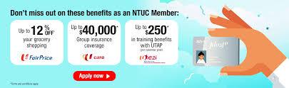discounts privileges ntuc membership