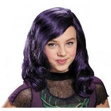 mal costume disguise mal wig kids descendants costume fancy dress