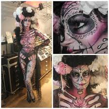 Halloween Makeup Day Of The Dead by Ghoul To Glam For Halloween With Make Up Forever