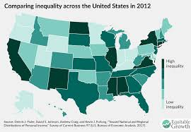 The United States In The World Map by The Once And Future Measurement Of Economic Inequality In The