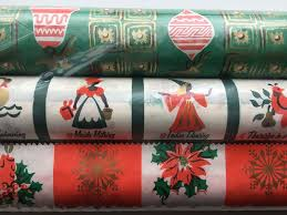 christmas gift wrap rolls vtg christmas gift wrap wrapping paper 3 rolls marcal 20 wide 6ft