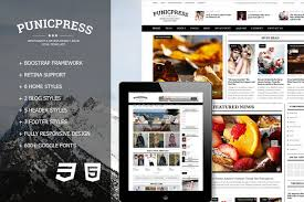 punicpress magazine html5 template html css themes creative