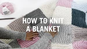 how to knit a blanket step by step