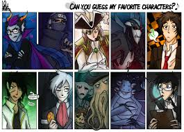 Favorite Character Meme - meme can you guess my favorite characters by mossygator on deviantart