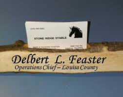 Desk Name Plates With Business Card Holder Rustic Name Plate Etsy