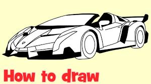 lamborghini car drawing how to draw a car lamborghini veneno roadster by drawing