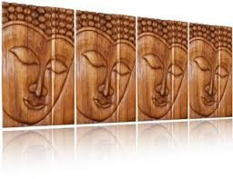wood wall carvings wall decor buddha carved wood panel serene ushnisha thai decor