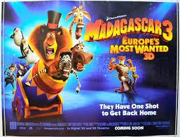 madagascar 3 europe u0027s wanted original cinema movie poster